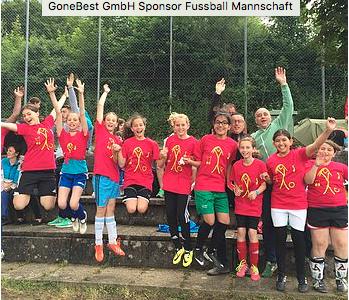 Gone Offline Sponsor der Mädchen-Fussball-Mannschaft am Schulturnier!